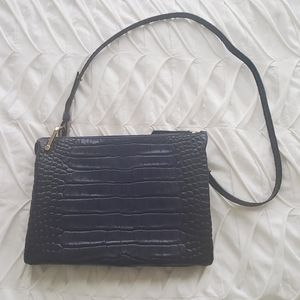 & Other Stories Blue Croc / Suede Crossbody